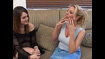Naughty mom teaches platinum blonde teen how to give blowjob  489228
