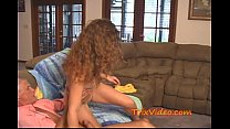 Babe TEEN babysitter CREAMED by a DIRTY DADDY