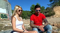 Myfirstpublic Two hot chicks play naughty game with young muscle stranger public - 9Club.Top