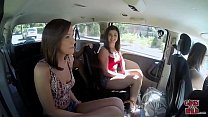 GIRLS GONE WILD - In A Cab Game Show With Three Young Babes - 9Club.Top