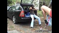 wife masterbates in car