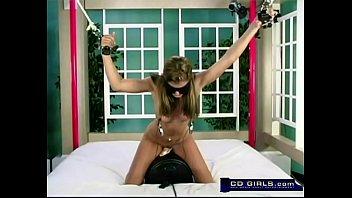 amazingly hot brunette bondage sybian
