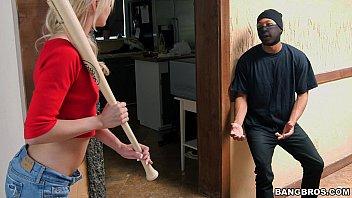 Tiny Blonde Sucks Off Intruder   Video Make Love