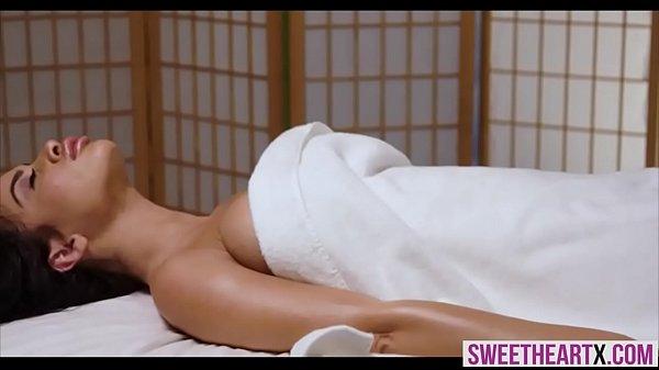 Busty MILF wife gets a lesbian massage till she orgasms