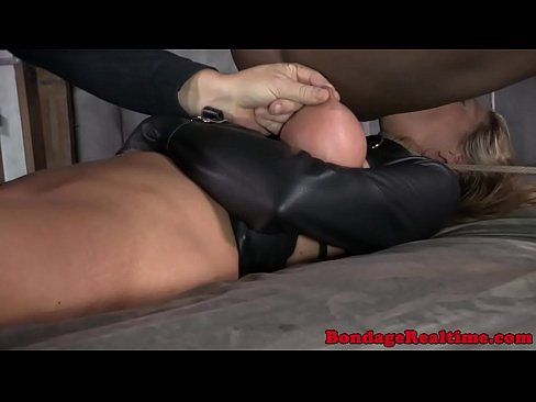bdsm anal on the bed -