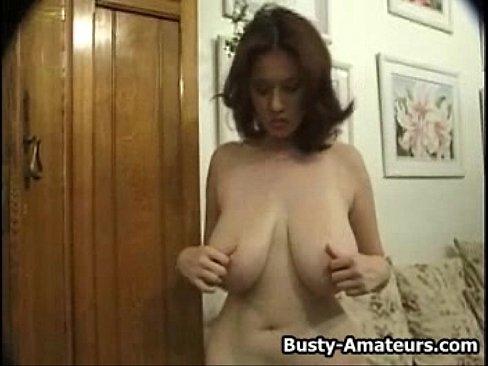 Busty amateur striptease