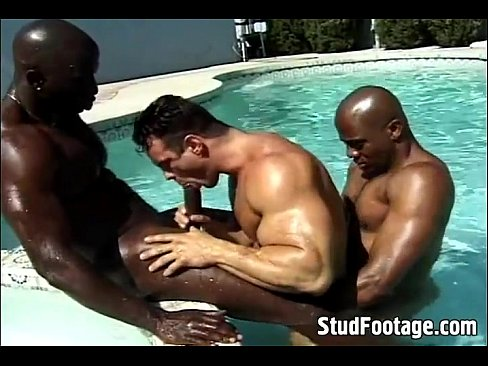 Interracial fag fucking